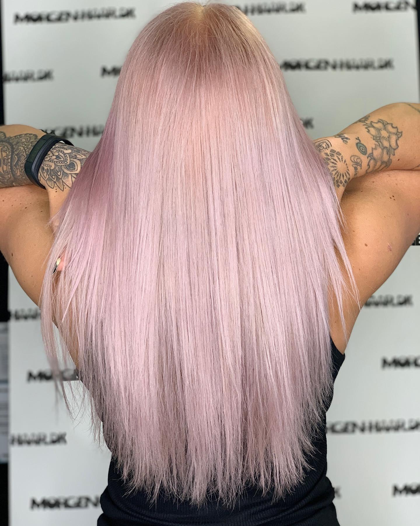 hårfarve lyserød